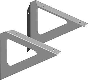Element System Regalkonsole triangle, étagère, 3 couleurs, lot de 2, blanc, 18133–00205 aluminium