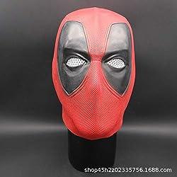 Lanyifang Deadpool Máscara Disfraz Cabeza Cara Casco Película Cosplay Prop