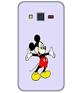 For Samsung Z2 Cartoon, Black, Cartoon and Animation, Printed Designer Back Case Cover By CHAPLOOS