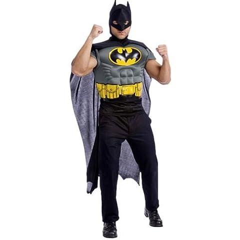 Batman muscular pecho Camisa & Tocado disfraz adulto