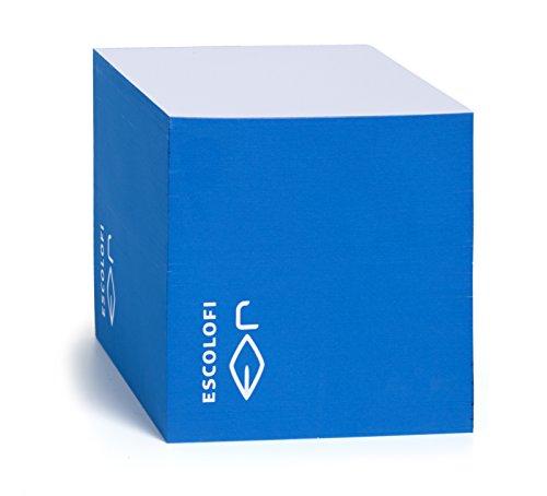 Escolofi 164200005 - Taco de notas, 10 x 10 x 10 cm, color azul