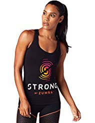 Zumba Fitness Strong By Racerback, Top Donna, Bold Black, M