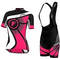 FDX-Maglia da ciclismo da donna a mezza manica da bici