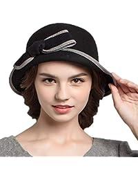 Battercake Sombreros Sombrero De Campana Señoras Elegante Otoño Melón Invierno Arco Moda Vintage Acogedor Estilo Moderno Sombrero De Fieltro Gorras