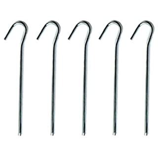Merriway Bulk Hardware BH04472 Steel Tent Peg, 150 x 3 mm (6 inch) - Pack of 20 - silver