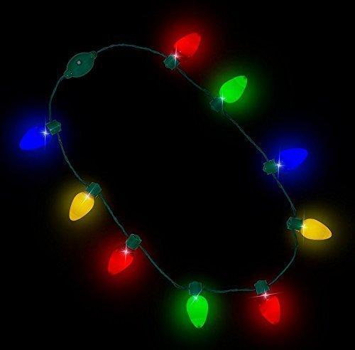 UChic 2 STÜCKE Party Glühbirne Halsketten Für Erwachsene Kinder Festival Halskette LED Leuchten Kunststoff Taschenlampe Leuchtende Weihnachten für Erwachsene oder Kinder (Kostüme Großhandel Schmuck Benutzerdefinierte)
