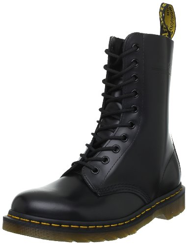 Dr. Martens 1490, Boots mixte adulte Noir (Black Smooth)