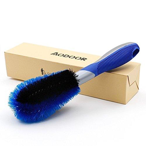 Auto Felgenbürste Waschbürste, Aodoor Auto Felgen Reifen, Felgenbürste für Alufelgen Speichen Hand Wasch Bürste, Effektiven Reinigung Hochwertiger Felgen (Schwarz-Blau)