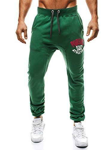 OZONEE Pantaloni Uomo Pantaloni tuta Pantaloni Sport Jogging STEGOL 812 Verde