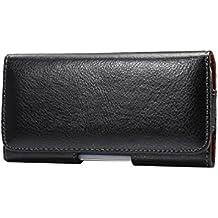 Lordwey® 5.7-6.0inch universal teléfono móvil horizontal funda de la bolsa de la correa, cuero genuino funda de la cartera de cintura para Samsung S8 Plus/Huawei Mate8/iPhone 7 Plus/LG G5