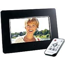 Intenso Photo Agent Plus Digitaler Bilderrahmen (17,7 cm (7 Zoll), TFT-LCD Farbdisplay, SD/SDHC/MMC/MS Slot, 16:9, Fernbedienung) schwarz