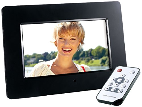 Intenso Photo Agent Plus Digitaler Bilderrahmen (17,7 cm (7 Zoll), TFT-LCD Farbdisplay, SD/SDHC/MMC/MS Slot, 16:9, Fernbedienung) schwarz (Bilderrahmen Digitale Akku)