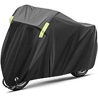 INTEY Funda Moto Tamaño XXL de 26.5*10.5*12.5 cm, Ventajas de Impermeable, protector solar, a prueba de polvo, a prueba de herrumbre, con Banda reflectante
