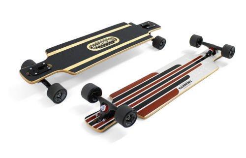 Hammond 8 Plys Canadian Maple Wood Longboard Skateboard B-35 with Surf Highway Black Wheels by Hammond
