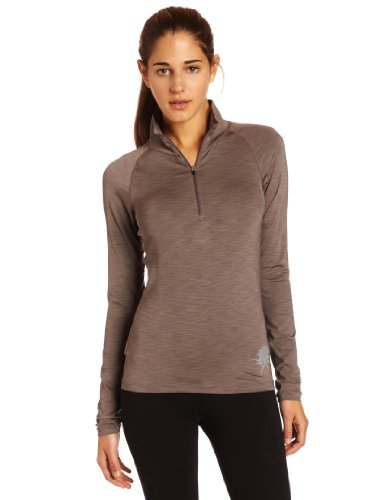 prAna – Damen Tech Half Zip Top Stahl
