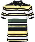 Fred Perry Herren Fett Streifen Poloshirt m5504 145 Tartan Grün L