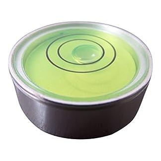 Nivel De Burbuja De Metal Pequeño Redondo Ojo De Buey (Líquido Verde) – Nivel De Superficie Reloj Hobby Giradiscos Cámara Caravana