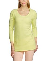 Custommade - Jersey de manga larga para mujer, talla 38, color amarillo (lemonade yellow)