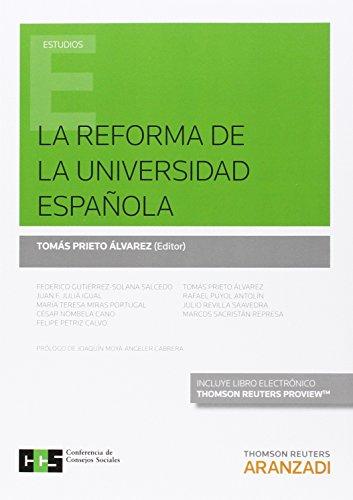 Reforma De La Universidad Española,La (Monografía)