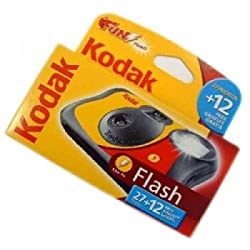 Kodak Funflash39 Disposable Camera With Flash 27+12 Exposures