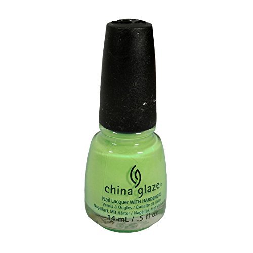 China Glaze Nail Lacquer with Hardner - Lacquered Effect - Highlight Of My Summer, 1er Pack (1 x 14 ml)