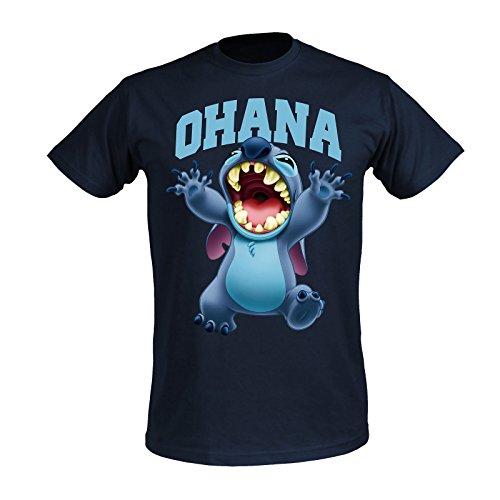 Lilo & Stitch Disney Men's T-Shirt Ohana Elven Forest Cotton Blue