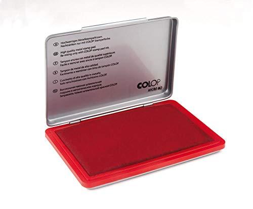 Colop 137865 Stempelkissen Micro M1 mit Metallgehäuse, 50 x 90 mm, rot
