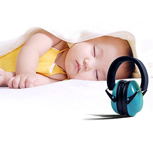 Z&W SHOP Kid Gehörschutz Ohrenschützer Faltbarer Gehörschutz Ohrenschützer für Kinder, Junior, kleine Erwachsene (Blau) (Flug Kleinkind)