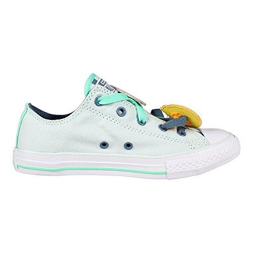 Converse Unisex-Kinder All Star Loopholes Sneaker Fiberglass Blue Coast White