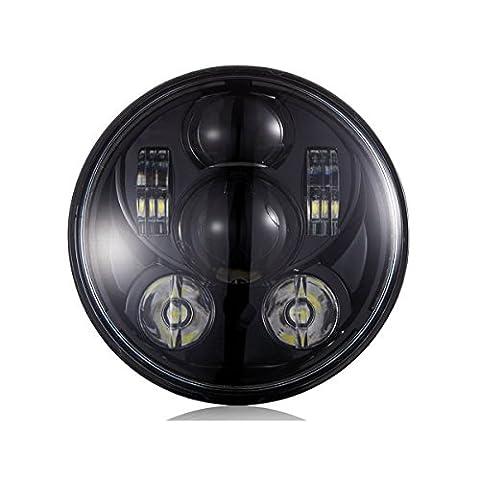 """Wisamic 5-3 / 4 """"5.75"""" Runde LED-Projektion Daymaker Scheinwerfer für Harley Davidson Motorräder Schwarz 9 PC-Birne"""
