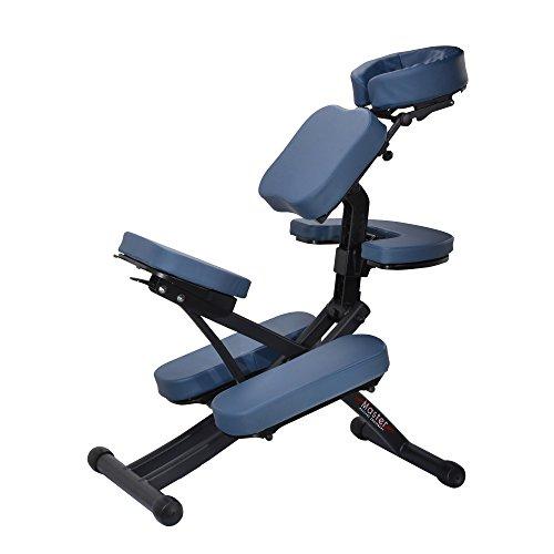 Master masaje Rio–Silla de masaje portátil, color azul