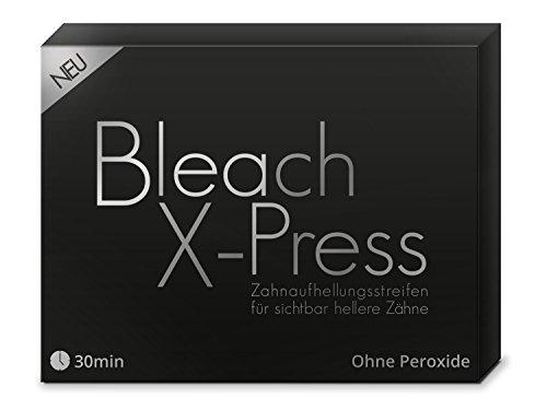Bleach X-Press Whitening Strips, Zahnaufhellung Bleaching für weißere Zähne (28 Streifen)