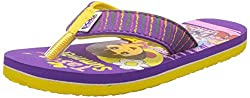 DORA Girls Yellow and Purple Flip-Flops and House Slippers - 7 kids UK/India (24 EU)