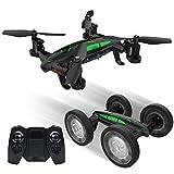 SQSAY Télécommande Volant Voiture Drone Terre Et Air Double Mode Hover Drone Tir Haute-Altitude Tir Mobile Téléphone WiFi Télécommande Lumières Cool 3D Flip