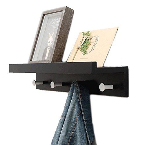 Wt-hook parete attrezzata per soggiorno parete attrezzata sospesa separatore di parole set di ripiani portaoggetti appendiabiti di finitura (dimensioni : 4 hooks)