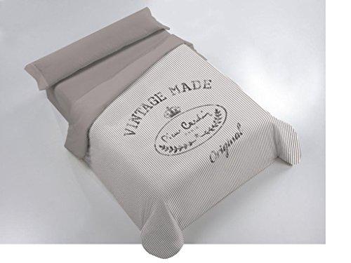 Juego de funda nórdica MADE para cama de 180 cm - color gris