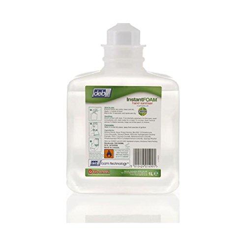 Preisvergleich Produktbild Original 6x 1Liter Kartuschen DEB InstantFoam-Desinfektionsmittel-Desinfektionsmittel Hand Wash reinigen–Teilenummer deb201b