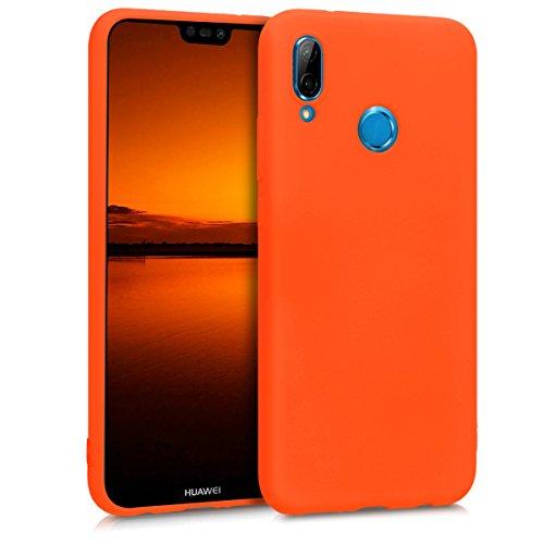 kwmobile Coque Huawei P20 Lite - Coque pour Huawei P20 Lite - Housse de  téléphone en Silicone néon Orange