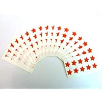 180 Labels , 15mm Stars , Red , Colour Code Stickers , Self-Adhesive Sticky Coloured Labels