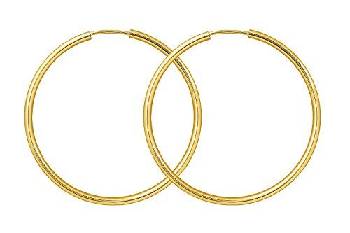 elbgold 585/14 K, Außendurchmesser 40 mm, Breite 2 mm, Gewicht ca. 1.6 g, NEU ()