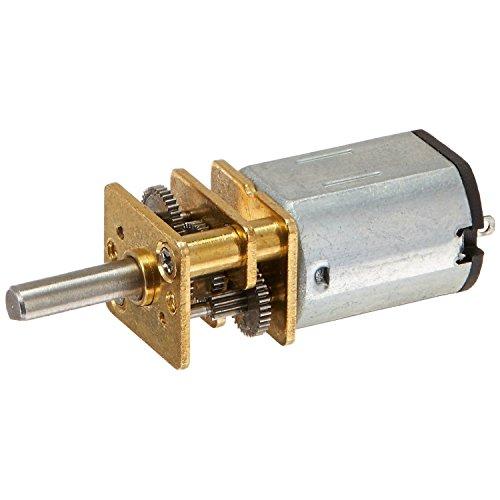 100 RPM DC Getriebemotor - SODIAL(R)JA12-N20 Modell DC 12V 100 RPM Drehmoment Getriebe Micro Gangschaltung Motor Silber + Gold