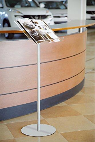 Espositore pubblicitario a leggio porta locandine avvisi depliant base metallo