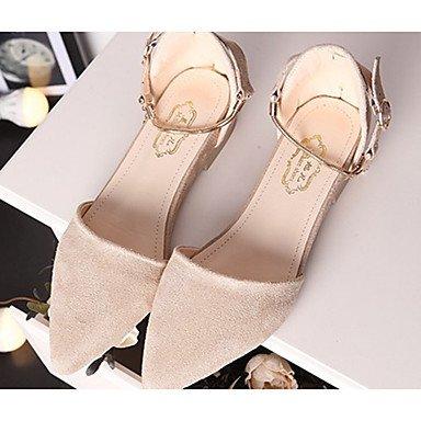 Confortevole ed elegante piatto scarpe donna appartamenti rientrano Comfort Felpa casual tacco piatto fibbia rosa / Grigio / Kaki Altri Khaki