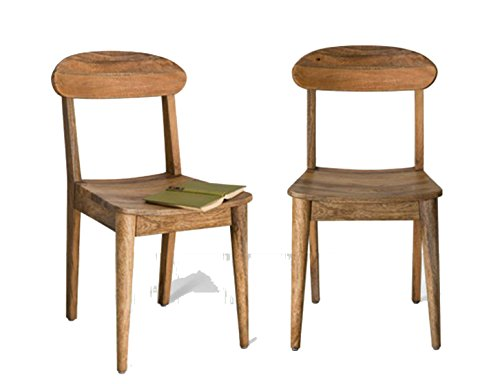 Murliwala Rustove dining chair set of 2 chairs in Natural Mango