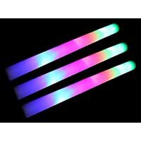 50 Pack of 18 Multi Color Foam Baton LED Light Sticks - Multicolor Color Changing Rally Foam 3 Model Flashing