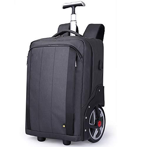 XLY Sac à Dos à roulettes Grande école imperméable Rolling Laptop Cartable Outdoor Daypack Voyage Bagage à Main Valise