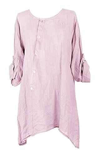 TEXTUREONLINE - Chemisier - Femme - rose - Taille Unique