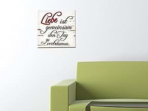 leinwand holzrahmen schriftzug f r wohnzimmer spruch liebe ist foto baumarkt. Black Bedroom Furniture Sets. Home Design Ideas