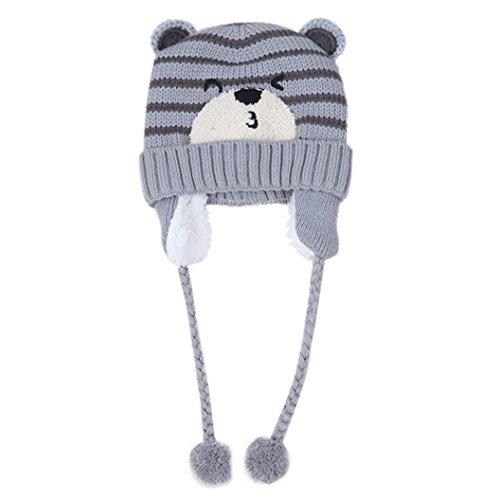 URSING Baby Jungen Mädchen Beanie Tasche Baumwolle Hut Kinder Drucken Stricken Hüte Unisex Klassisch Super süß Winter Warm Hüte (Kostüme Minions Girl)