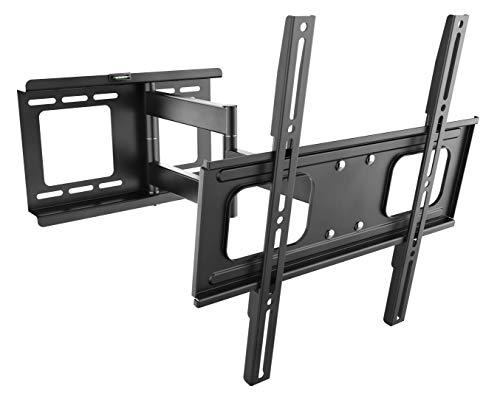 RICOO TV Wandhalterung S2544 für ca. 32-65 Zoll Schwenkbar Neigbar | Universal Fernseh Halterung Wand Halter Aufhängung auch für Curved LCD und LED Fernseher | VESA 200x100 400x400 81-165cm | Schwarz
